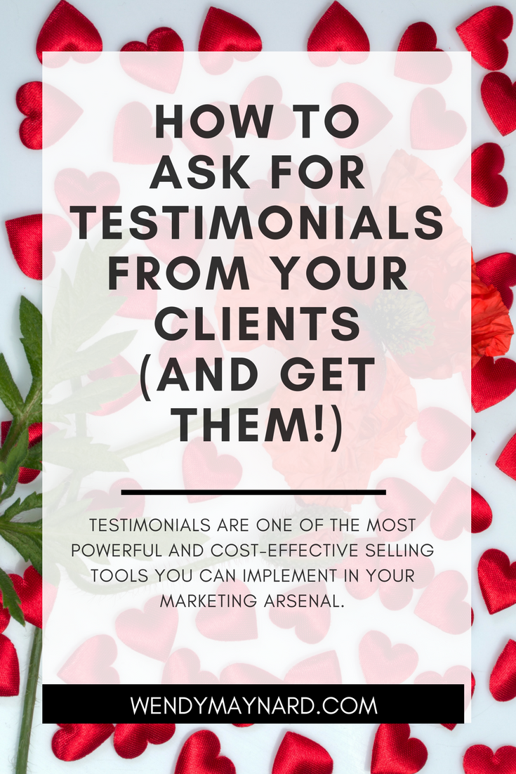 Testimonials are one of the most powerful and cost-effective selling tools you can implement in your marketing arsenal. Here's how you can ask and get tons of great testimonials!
