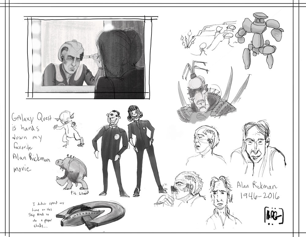 movie sketches- Galaxy Quest