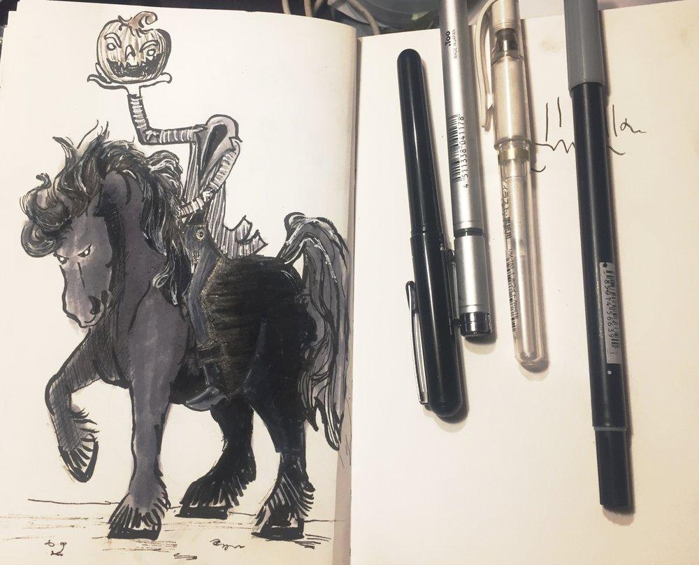 halloween sketch