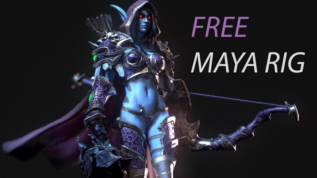 Sylvanas Windrunner Free Maya Rig — RAY LE