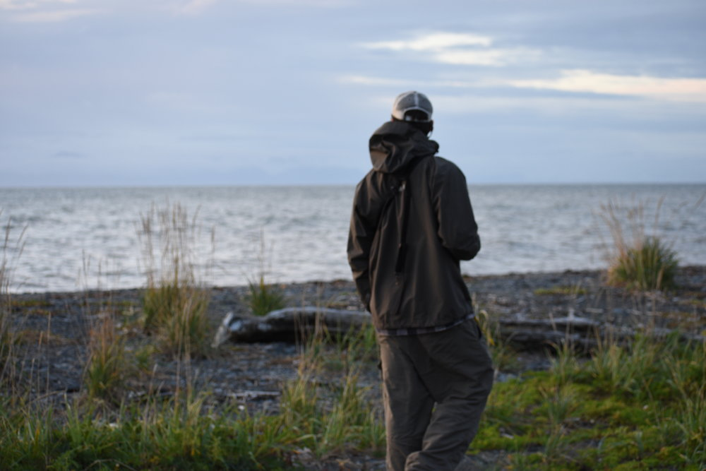 We took an evening stroll near Ninilchik, AK to do some beach combing at sunset on our way to Homer.
