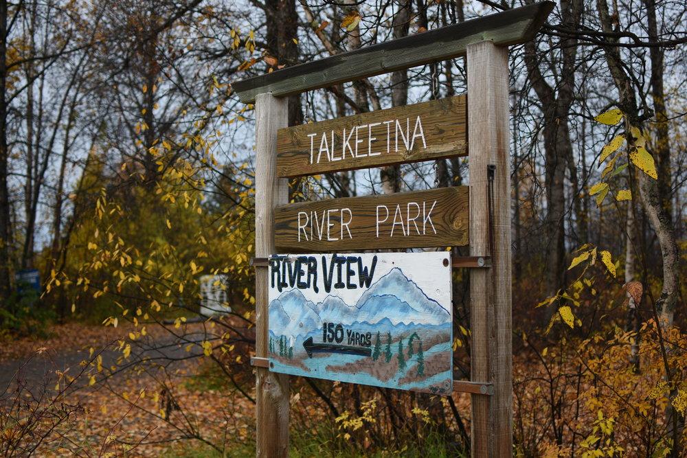 Talkeetna River Park in the heart of Talkeetna, AK.