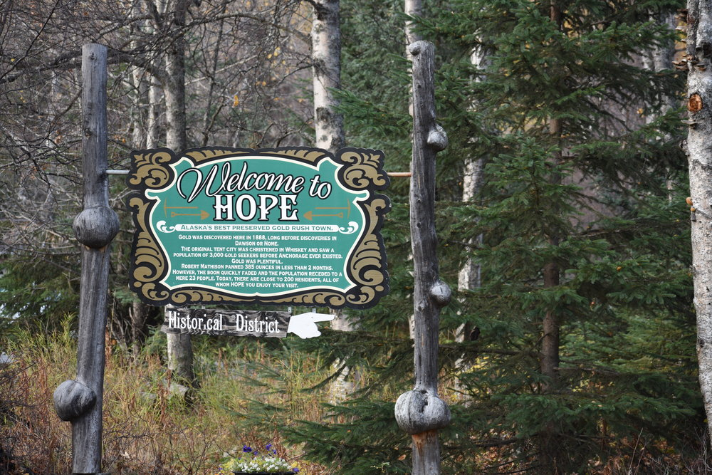 At the end of the Hope Highway, the small town of Hope, AK awaits!