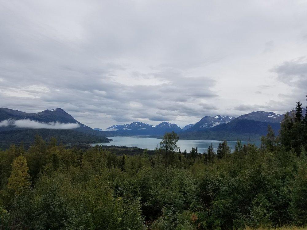 A look at Skilak Lake from a viewpoint along Skilak Lake Road.