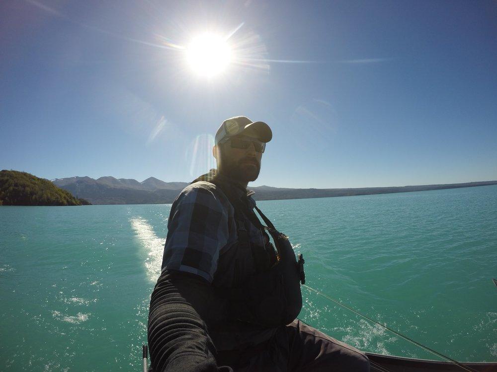 Skilak Lake crossing on a bluebird day!