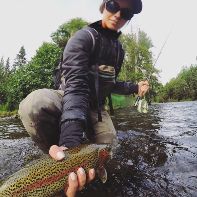 Jackie landed several good-sized rainbows on the dry this day!