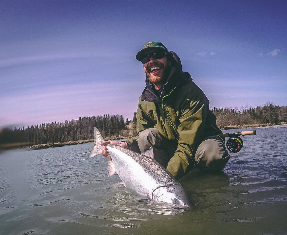 Swinging for King Salmon on the Kasilof River!