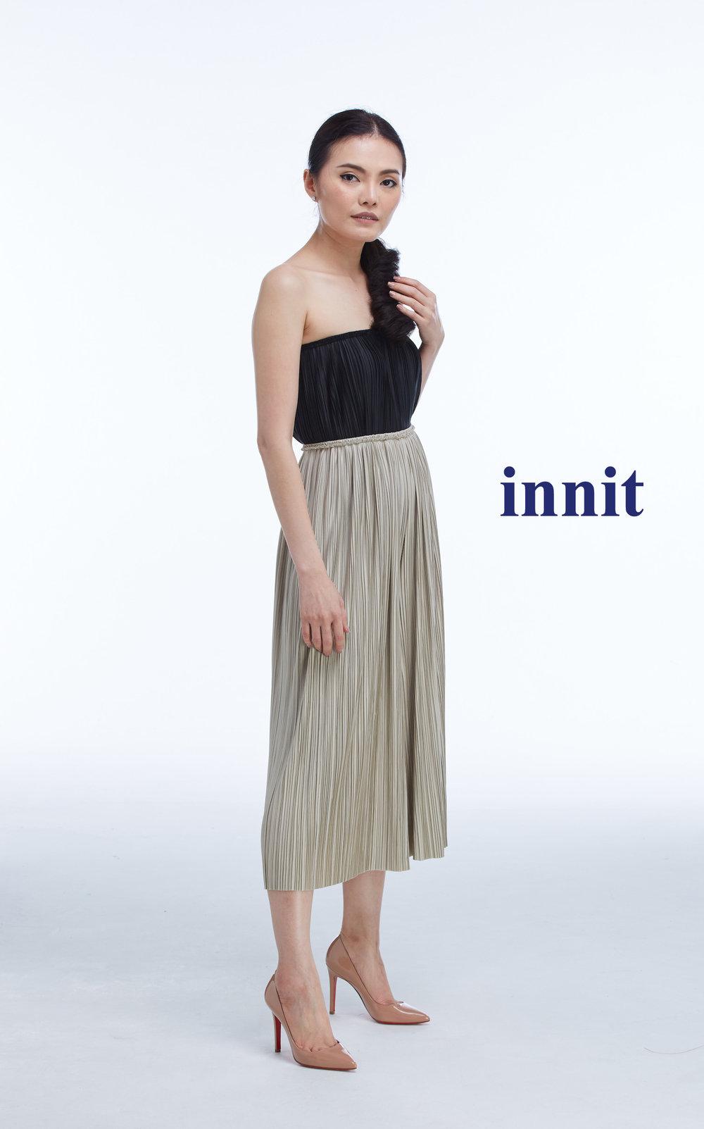 PLEATED MIDI PANTS Pleated Skirt