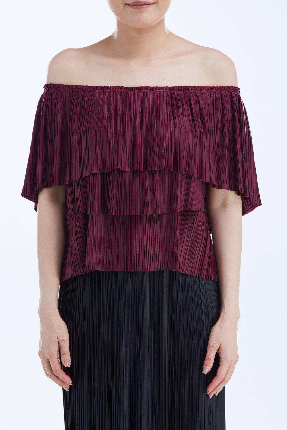 CAMPARI TOP worn with  PLEAT SKIRT