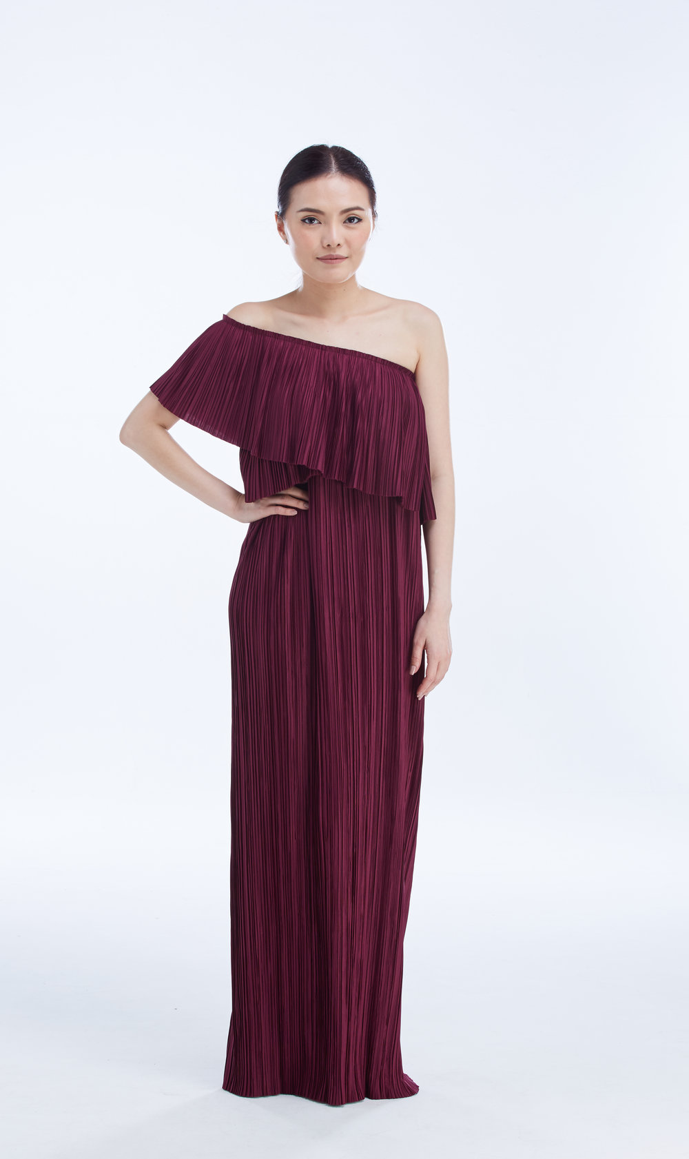 "CAMPARI DRESS 50"" in Redwine"