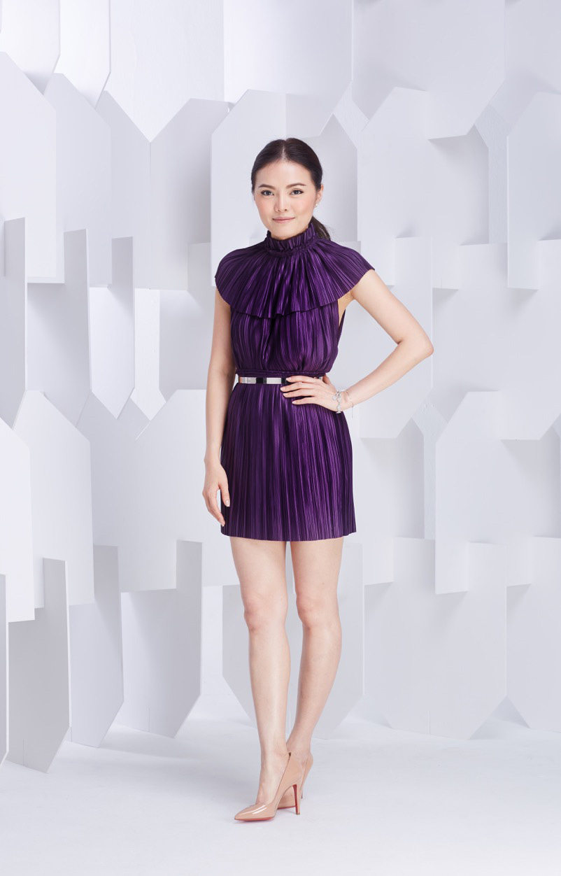 Alpha Straight Top   Pleat Skirt   Plate Belt