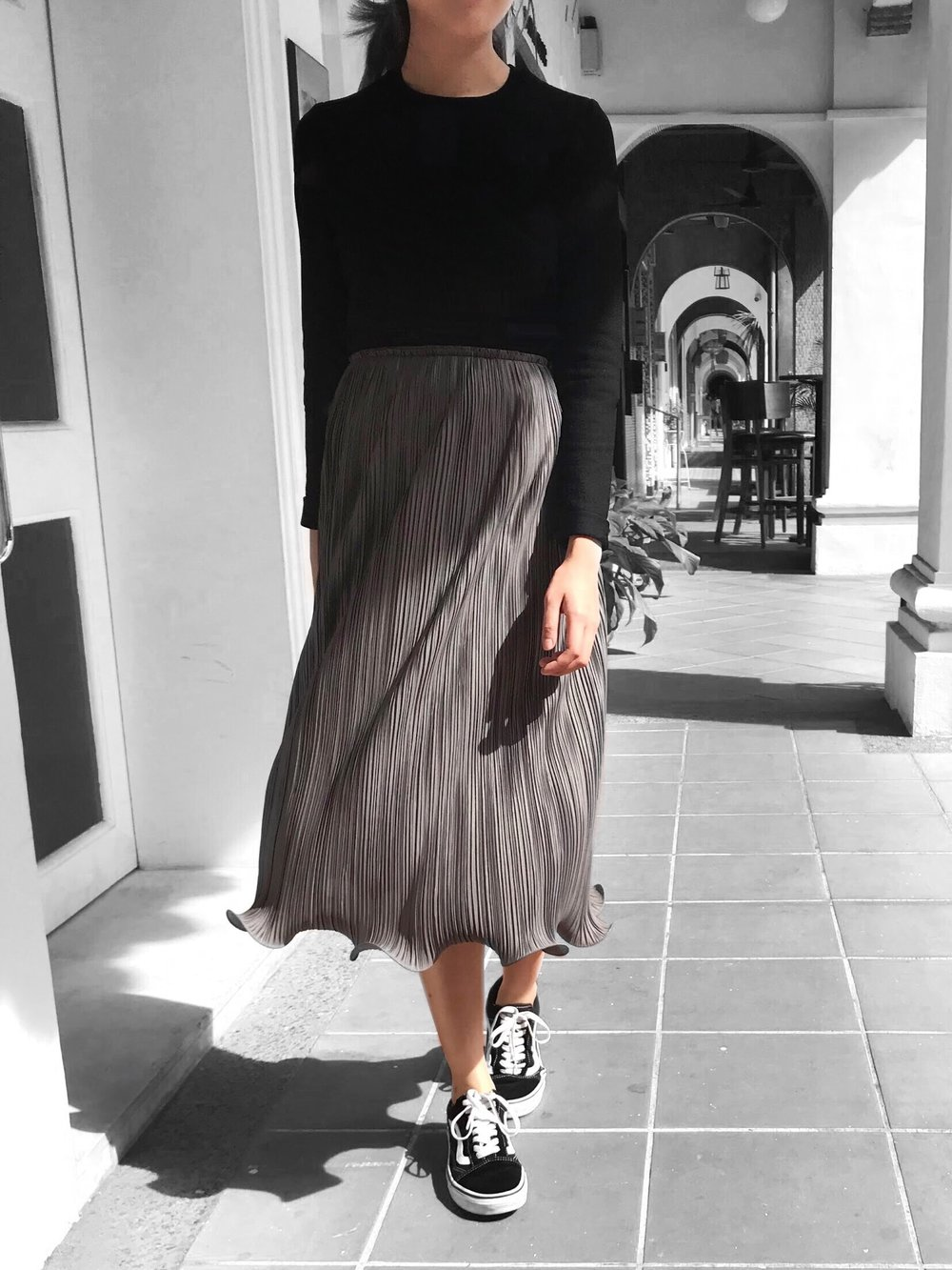 Curl Edge Skirt - Previously appearing as a knee length skirt, we've created Curl Edge in midi length to fulfill those midi dreams!