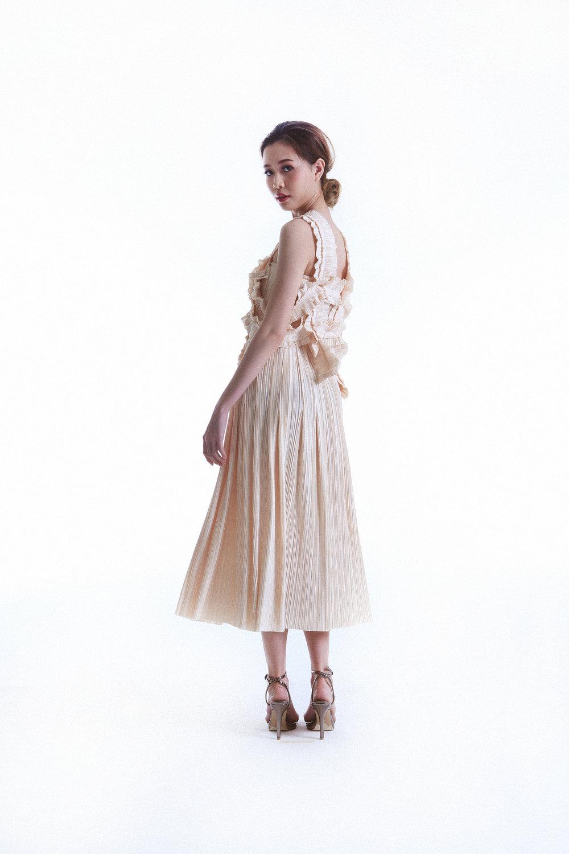 Faith Top worn with Flame Straight Skirt