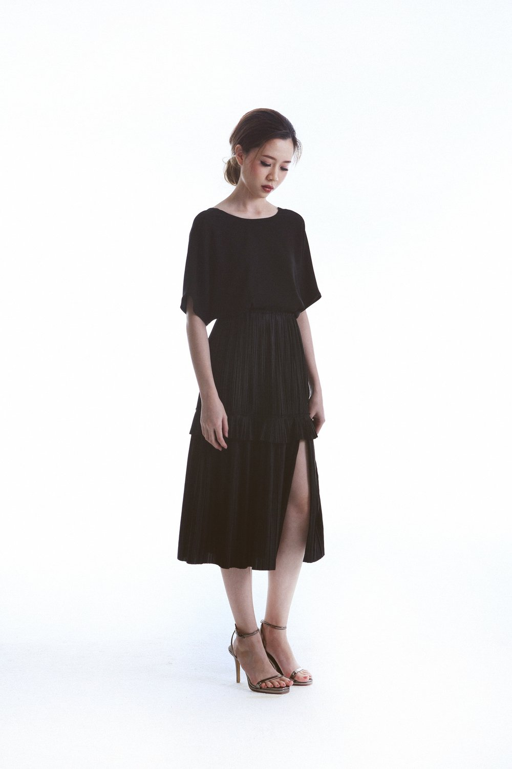 Saint Top worn with Hope Straight Skirt