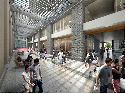 This artist's rendering, provided by the Seoul Metropolitan Government on Sept. 22, 2016, shows what the underground space connecting major buildings and subway stations in central Seoul will look like when completed. Construction is estimated to begin in 2020 and complete by 2025, the city government said. (Yonhap)