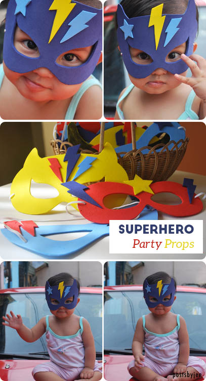 superhero party props
