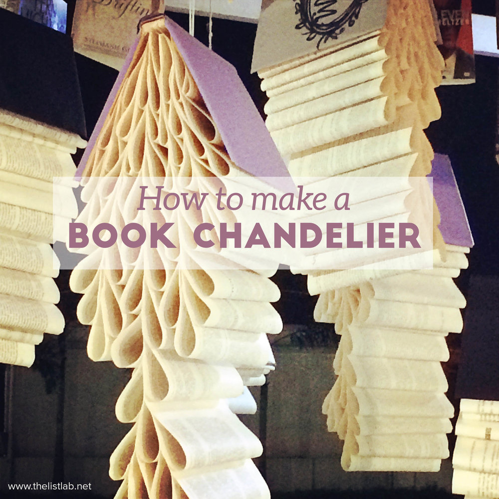 book chandelier cover