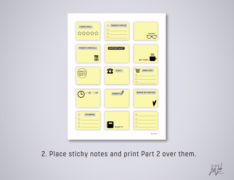 MINI STICKY Notes Printable PDF