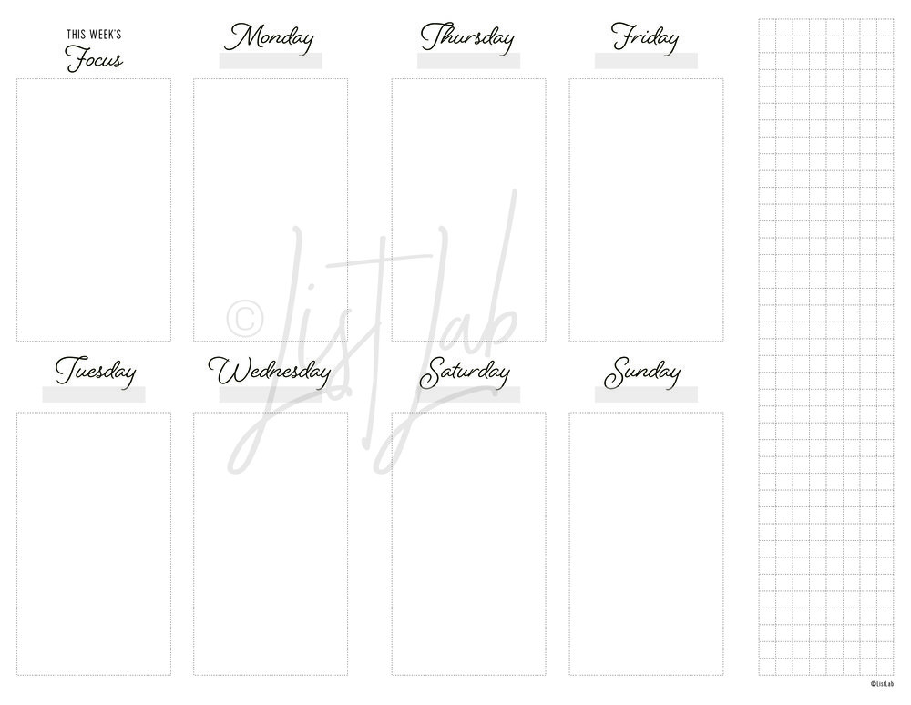 2-PAGE MONTHLY VERTICAL UNLINED WITH GRID FLAP (WO2P VU WITH FOLD)