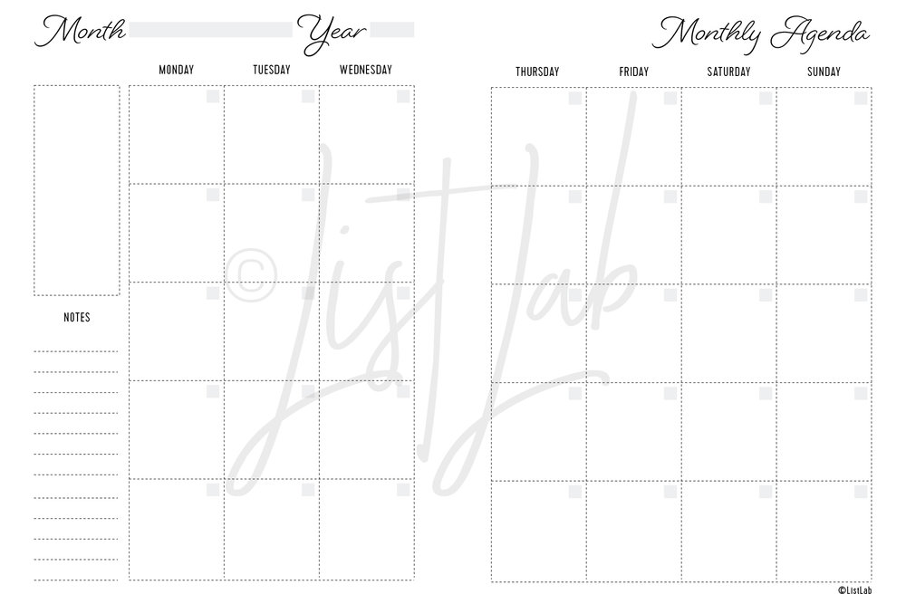 2-PAGE MONTHLY MON TO SUN (MO2P MON TO SUN)
