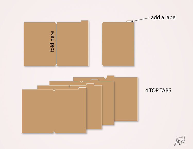 TN Passport Size TOP Tabbed Covers Kit – Die Cutting Files - svg, png, pdf