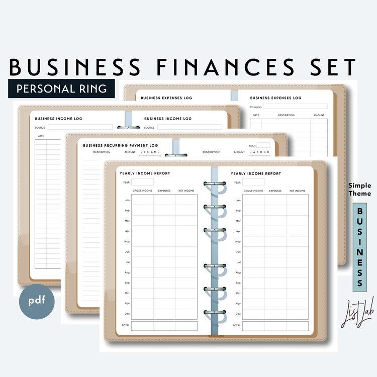 Personal Size BUSINESS FINANCES SET
