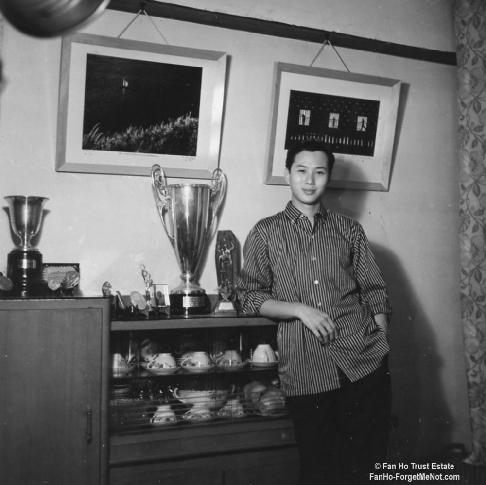 Master Fan Ho in 1963 with some of his trophies