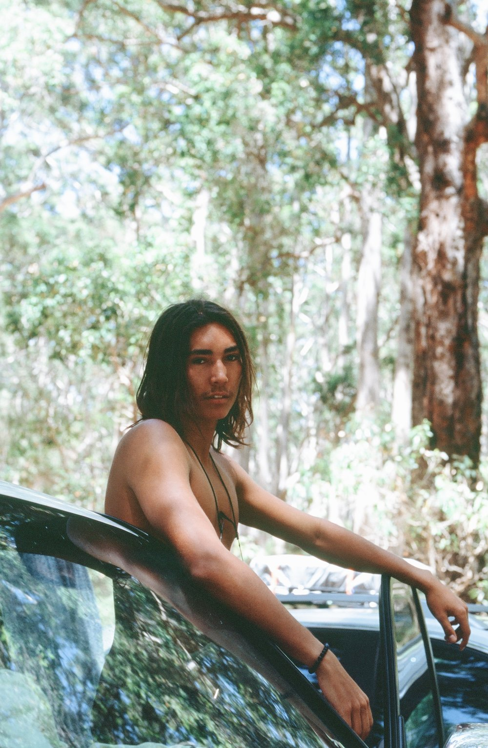 And in the jungle...... (Why do I have so many car photos of Zac?)