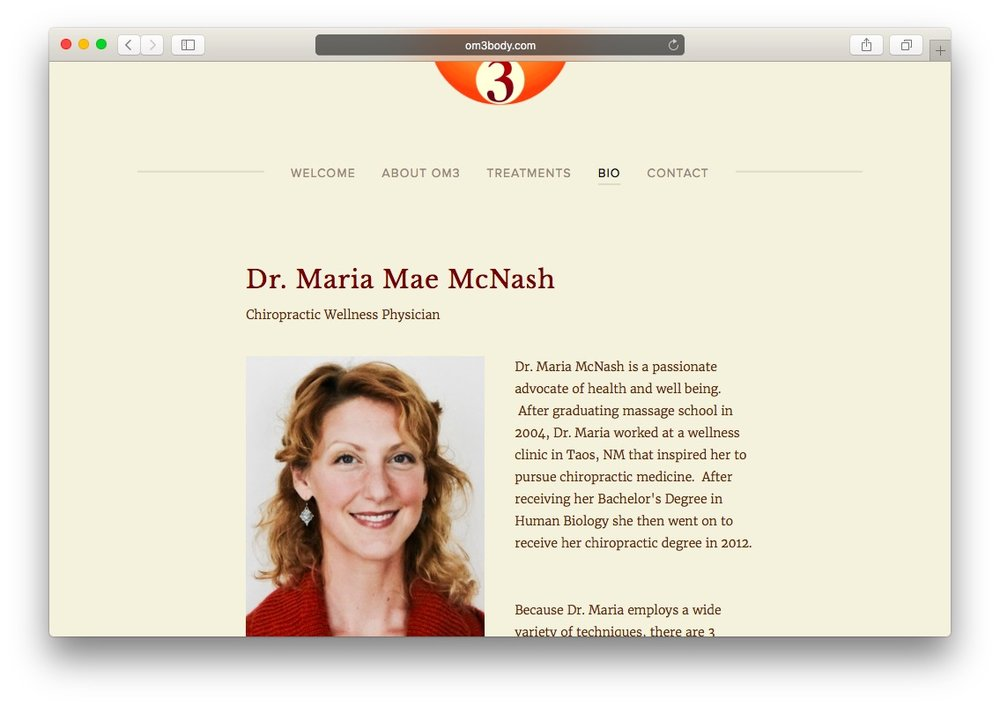 Maria McNash</br>Chiropractor
