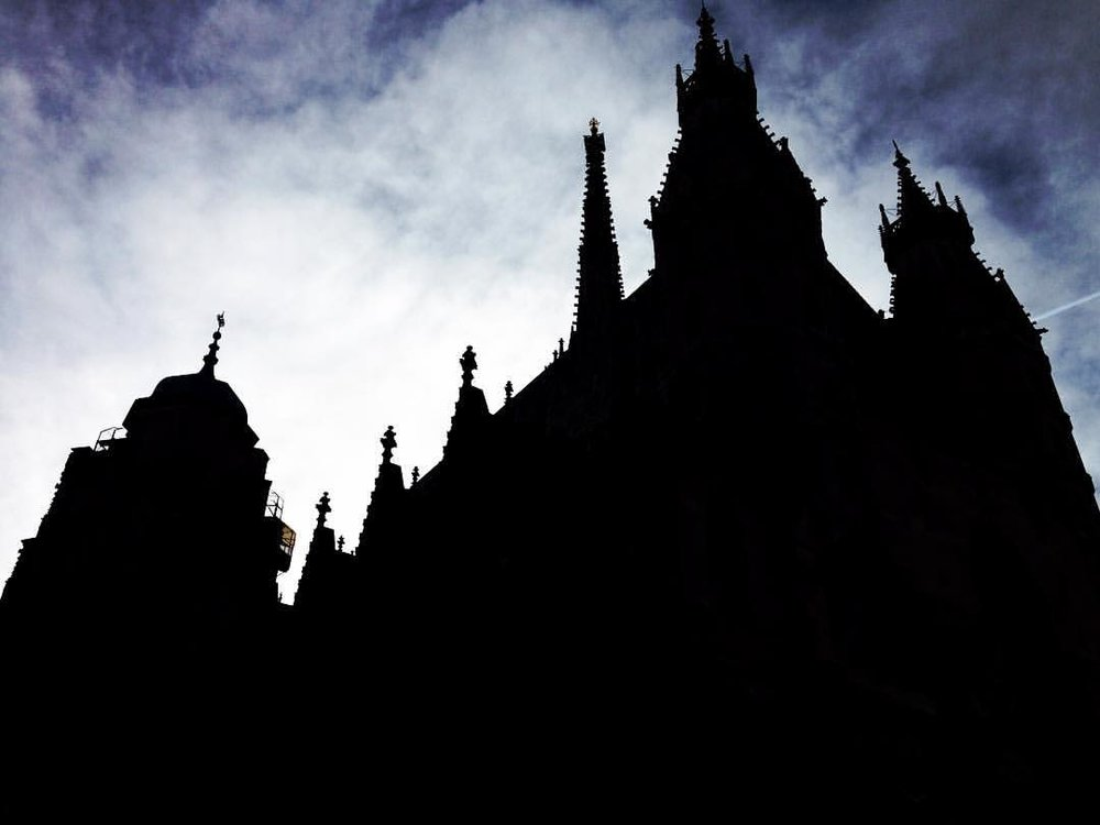 The spires of St. Stephen's Cathedral, Vienna.