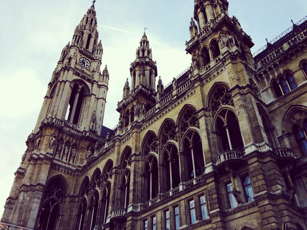 The Rathaus, part of a late 19th century Neo-Gothic building spree.