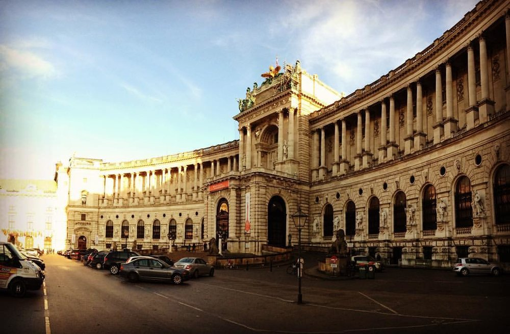 The New Hofburg. The last wing of the Imperial Palace to be built.