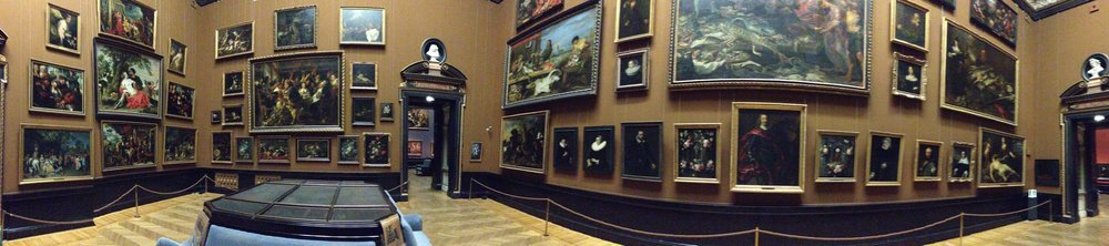 Or this room, which is wall to wall masterworks from Titian, Reubens and Jan van Eyck.