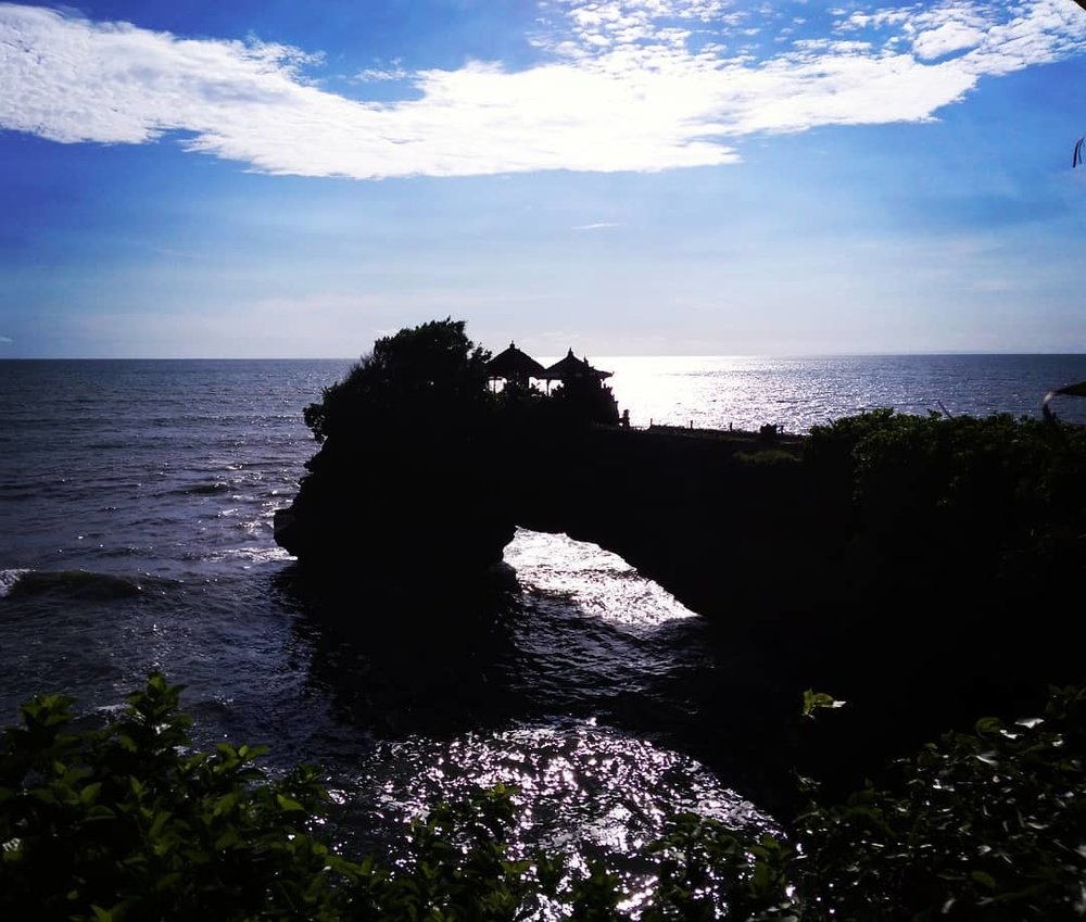 From the coves around Tanah Lot.