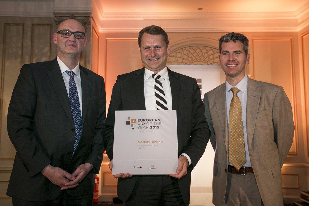 Mattias Ulbrich, CIO AUDI AG gewinnt den European CIO of the Year Award 2015 für Großunternehmen