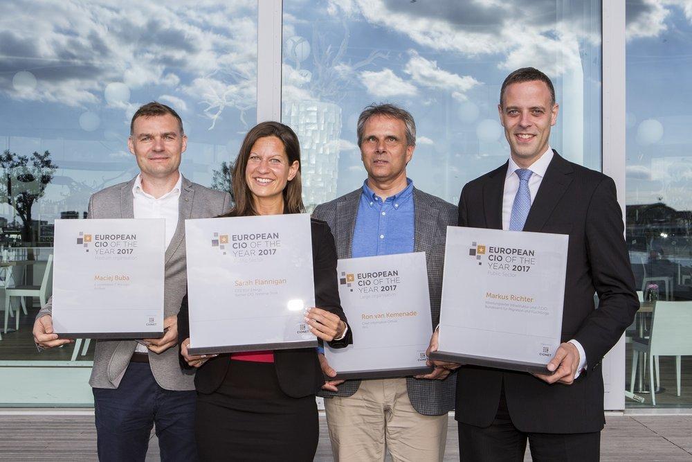Die Gewinner der European CIO of the Year Awards 2017 - CIO CITY 2017 in Amsterdam