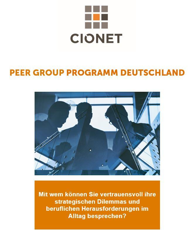 Die aktuelle Brochure zu unserem CIO Peer Group Programm finden Sie  hier