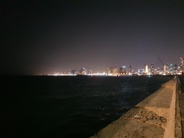Tel Aviv at Night (vom Hafen von Jaffa)