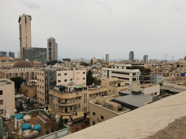 Blick vom Dach des Mindspace Gebäudes: Good Bye Tel Aviv, see you soon again!