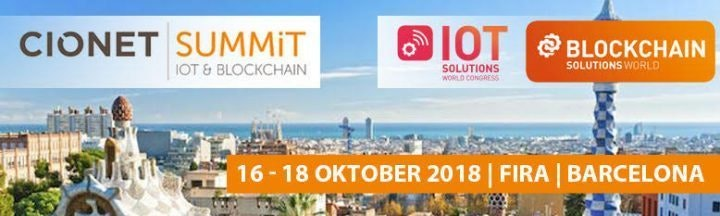 Blockchain & IoT Solutions Forum 16.-18. Oktober 2018 in Barcelona