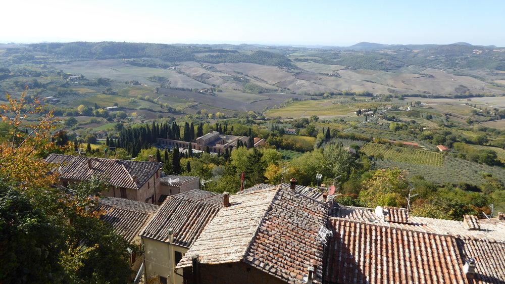 Panoramic view from Piazza di San Francesco, Montepulciano