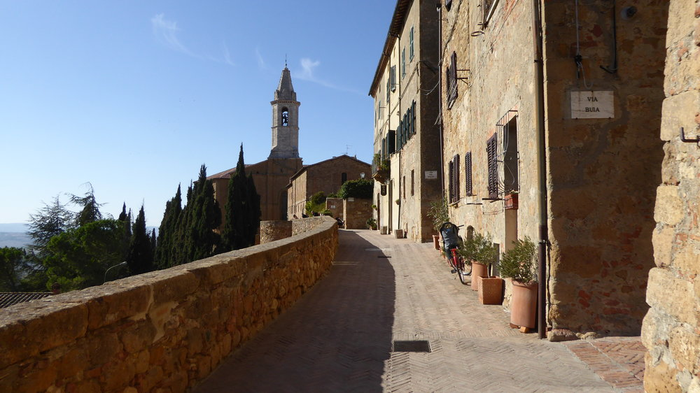 "Pienza's ""balcony"" that  looks over Val d'Orcia"