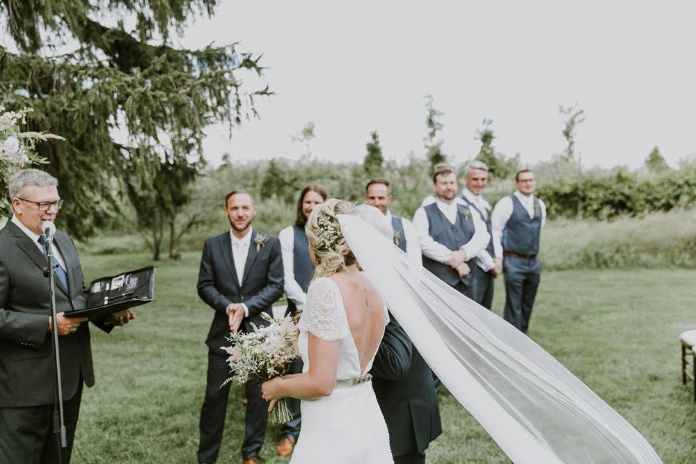 Did you catch last week's friday bride, jennifer? - Our cool bride walked down the aisle in an Mainline Collection dress