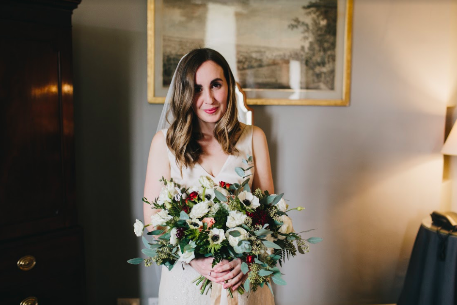 Clare WAS A VISION In a Mainline collection dress - browse our bridal collection to find a style like Clare's dress and see many more options