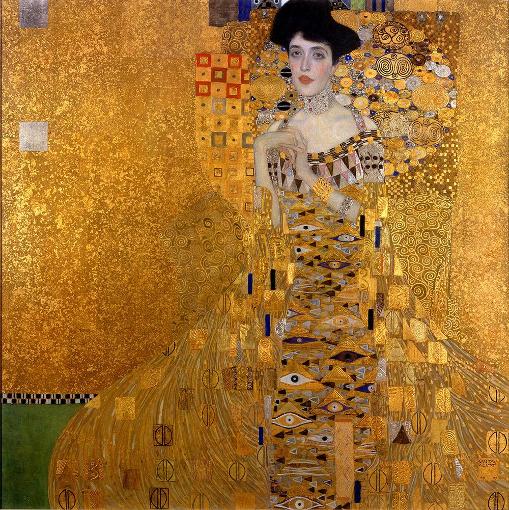 """""""Adele Bloch-Bauer"""" (1907) Gustav Klimt"""