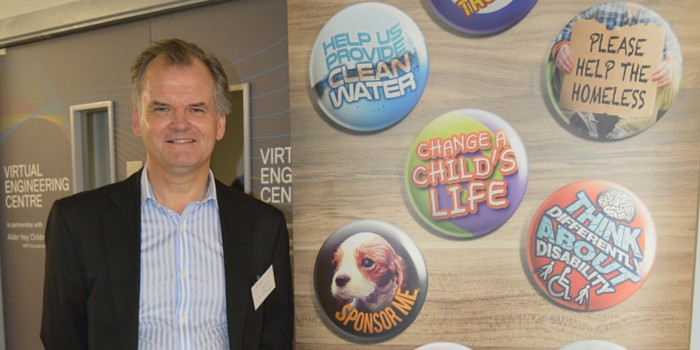 Euan Imrie, COO of Charities Trust, at launch of Make Payday Count campaign