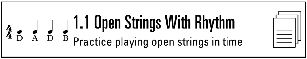 Practice Sheet 1.1 Open Strings with Rhythm (Button).png