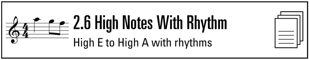 Practice Sheet 2.6 High Notes with Rhythm (Button).png
