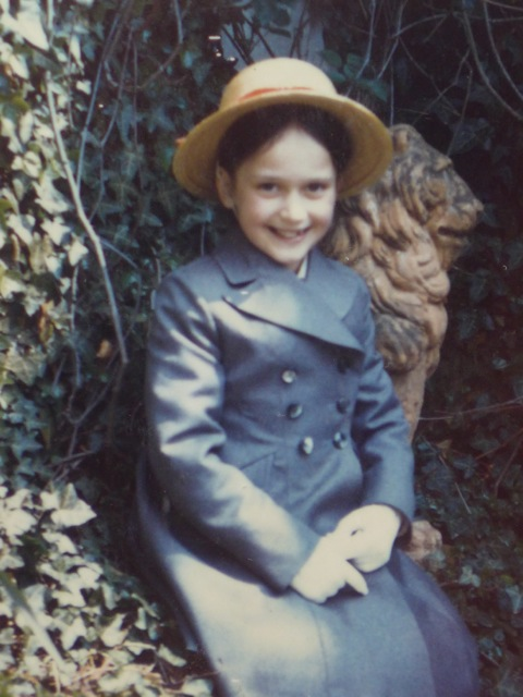 Photo of Ysenda Maxtone Graham going to boarding school, aged 9, 1973