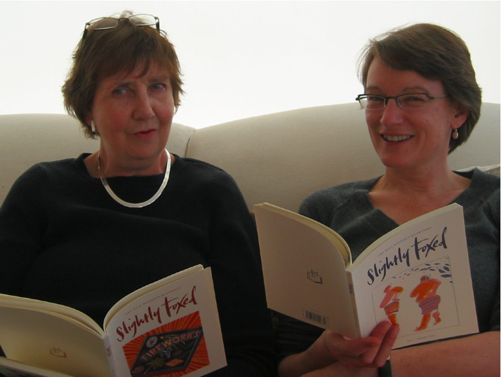 Hazel Wood and Gail Pirkis, editors of Slightly Foxed